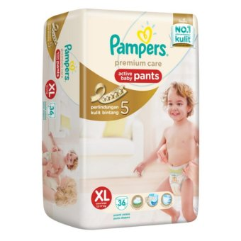 Harga Pampers Premium Care Active Baby Pants XL36