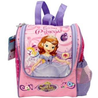 Disney Sofia the First Original Toddler Backpack & Water Bottle dan Lunch Box .
