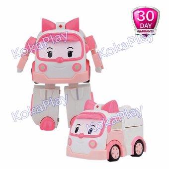 Robocar Poli Transformable Mainan Mobil Robot Berubah Amber .
