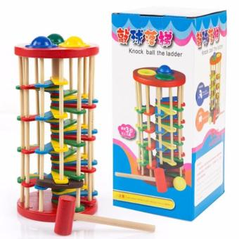 Harga TME Wooden Knock Ball the Ladder