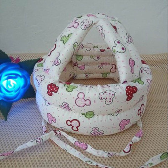 Harga Baby walk Toddler Infants No Bumps Safety Warm Cap/Hat protect Baby head Helmet Head Guard(white) - Intl