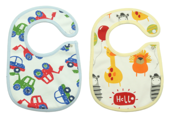 Harga Bearhug 2-Piece Bib For Baby Boy (Car-Animal)