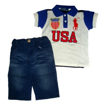 Harga Baby Talk - Polo Boy USA Baju Polo Anak - Navy