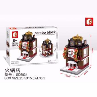 Harga Bricks Sembo Sd6034 Hot Pot