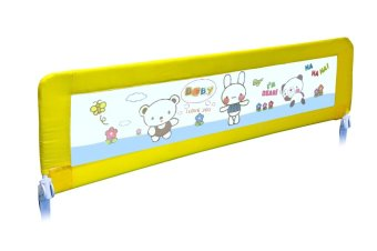 Harga Twomother Infant Baby Bed Safety Guard Rail 150cm Yellow Bear
