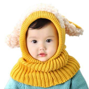 ... Anak Anak Laki Laki Yang Memakai Topi Musim Dingin Wanita Kintted Telinga Anak Anjing Balita Bayi