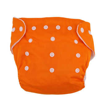 Harga Yingwei New Reusable Nappies for Baby Babies Newborn Cloth Nappy Diapers Adjustable Newborn to Toddler Orange