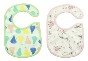 Harga Bearhug 2-Piece Bib For Baby Girl ( Bunny-Pear )