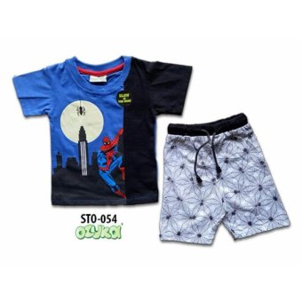 Harga Ozuka setelan anak Spiderman biru glow in the dark