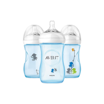 Harga AVENT BOTTLE NATURAL 260ML SINGLE (BLUE - MONKEY)