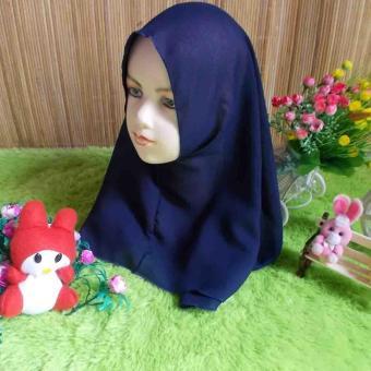 kembarshop - Khimar Jilbab Hijab Anak Bayi Batita 0-3 th Biru Dongker