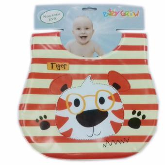 Harga Freeshop Bib Sleber baby Plastik Tiger Stripe Baby Grow S206 - Brown