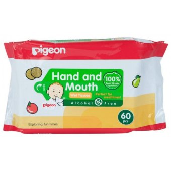 Harga Pigeon Baby Hand and Mouth Wet Tissue 60 Sheets