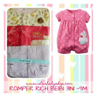 Harga Baby Grow - rich Beibi Romper 3in1 - Girls - 9M