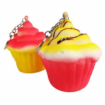 Harga Simply Chic Squishy Gantungan Kunci Kue Bolu Kukus ( Squishy Simulation Cake Slow Rising Squishy Fun Toys Key Chain ) 2,7 inch