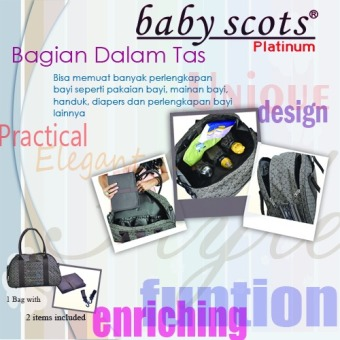 Harga Baby Scots Platinum - Mommy Bag 19 - Cokelat