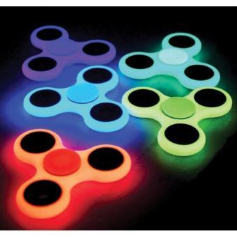 HLJ GLOW IN THE DARK Fidget Spinner Hand Spinner Hand Toys Focus Games / Mainan Spinner