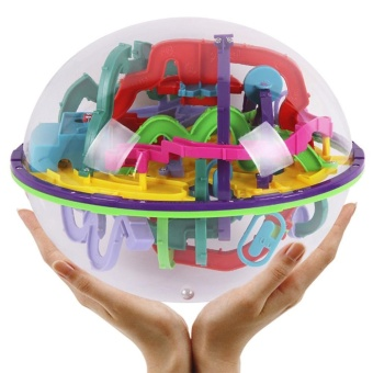 299 Challenge Level Magic 3D Labyrinth Ball Interesting Maze Puzzle Game Earth Toy - intl