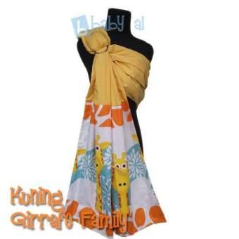 Baby Al Ring Sling Motif kombinasi Kuning Giraffe Family
