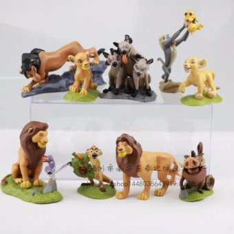 Harga 9pcs/set The Lion Guard Lion King Simba Kion Bunga Beshte Fuli OnoPVC Action Figures Animals Figurines Statue Kids Toys Gift - intl