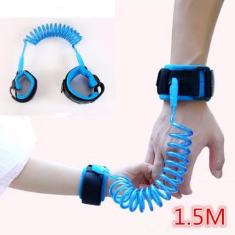 1.5M Baby Child Anti Lost Safety Hook and Loop Fastener Wrist Link Rope Band Leash