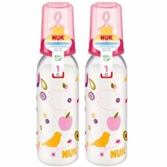 Harga NUK 240Ml Classic Pp Bottle 2Pcs Value Pack + Gratis 2 NUK Baby Wipes 10s
