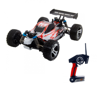 Harga WL Toys A959 VORTEX 1:18 Scale 2.4G 4WD 50KM/H Off-Road Racing Buggy - Merah