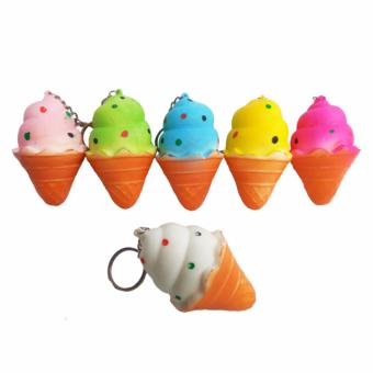 Harga Simply Chic Squishy Gantungan Kunci Es Krim ( Squishy Simulation Ice Cream Slow Rising Squishy Fun Toys Key Chain ) 3,5 inch