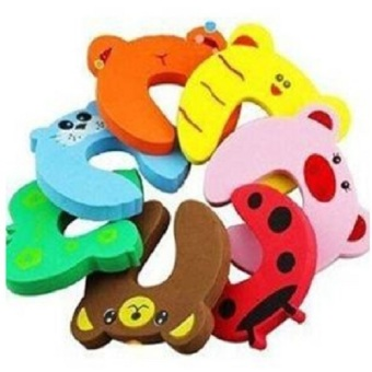 Harga 8 pcs EVA Cute Funny Cartoon Animal Door Stop Doorstop for Baby Children Safety Finger Protection