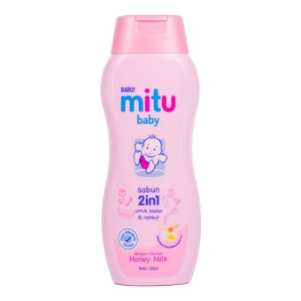 Harga MITU BABY BATH MILK 2 IN 1 BOTTLE 200 ML