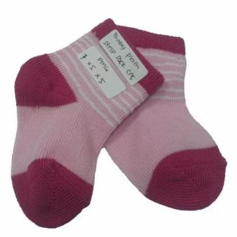 Harga Andri collection-BABY PLAIN STRIPE SOCK CNS-PINK-A