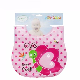Harga Freeshop Bib Sleber baby Plastik Best Friend Baby Grow S206 - Pink