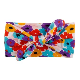 Harga Baby Toddler Bunny Rabbit Bow Knot Turban Headwrap Purple Yellow