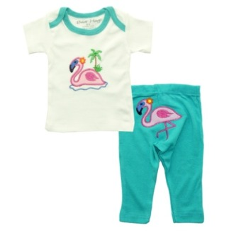 Harga Bearhug 2-Piece Set for Baby Girl ( Flamingo ) Tosca