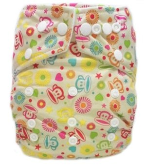 Harga Babyland Cloth Diapers Microfiber Monkey - 1 insert