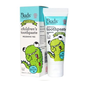 Harga Buds for Kids Children's toothpaste with natural Xylitol (1-3 years) Green Apple 50ml