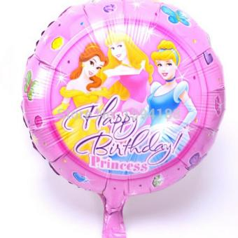 Harga Balon Foil Bulat Happy Birthday Motif Princess 40 CM