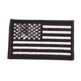 Harga American Flag Embroidered Patch Patriotic USA Military tactics Patch black