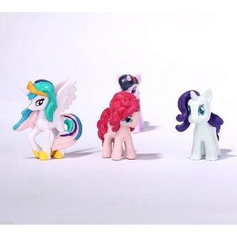Black Shop International Lot Of 12Pcs My Little Pony Cake Toppers Pvc Action .