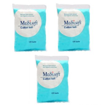 Harga Medisoft Cotton Ball / Kapas Bola - 3packs