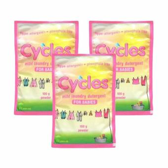 Harga Cycles Mild Laundry detergent for babies 3's*100 gr