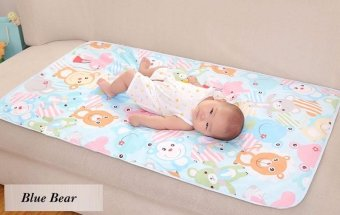 Harga 90*60cm Baby Cartoon Reusable Matelas Infant Cover Bedding Nappy Burp Mattress Waterproof Sheet Diapering Urine Changing Pads - intl