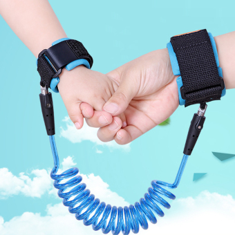 Harga DNW Child Anti-lost Band Baby Safety Harness Strap Wrist leash Walking Hand Belt (Blue)