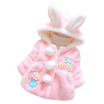 Harga Kids Baby Girls Cotton Coat Winter Warm Jacket Outerwear - intl