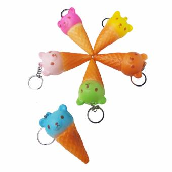 Harga Simply Chic Squishy Gantungan Kunci Es Krim Beruang Rilakuma ( Squishy Simulation Ice Cream Bear Slow Rising Squishy Fun Toys Key Chain ) 1,7 inch