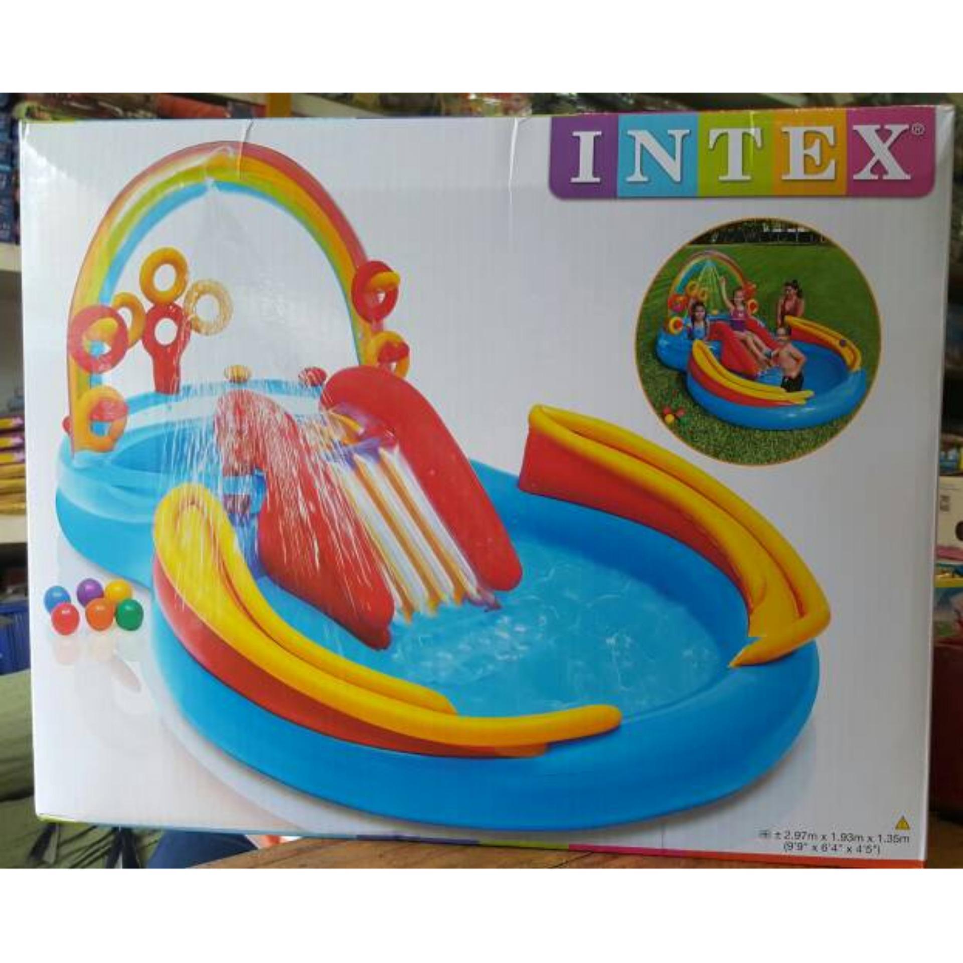 Intex 56441 Sunset Glow 4 Ring Rainbow Pool 168cm X 46cm Kolam ... - Obral Intex 58446 Crystal Blue Pool Kolam Renang Anak. Source · Intex Kolam Rainbow ...