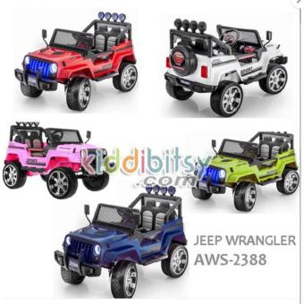 Jeep Wrangler AWS-2388 - Mainan Mobil Mini Aki Jeep like Rangerover