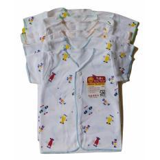 Jelova Angela Setengah lusin Baju Atasan Pendek Baby Bayi TARA/ABY Putih Motif - SNI Standart - 0-6 bulan -Mixcolour