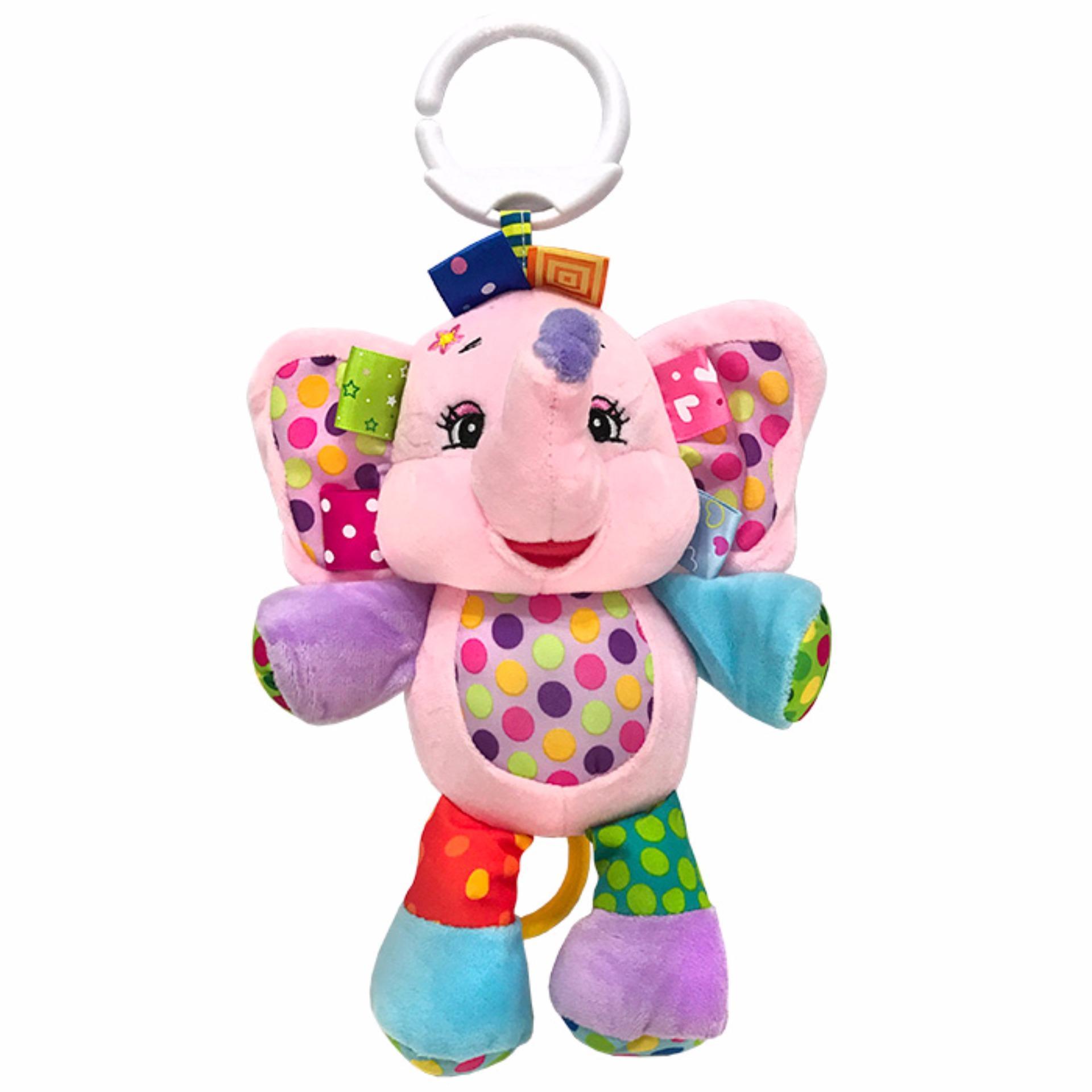 Jolly Baby Mainan Boneka Musik - Pink Elephant