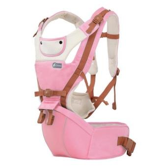 Kangaroo Baby Carrier Hip Seat Breathable summer Hipseat FrontBackpacks Baby Canguru Portabebe Multifunction Pink - intl - 2